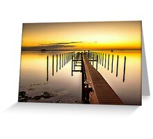 Beso del Sol Sunset Greeting Card