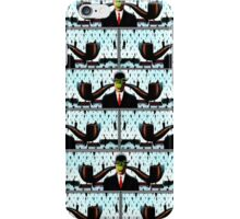 Ear Smoking Apple Guy Standing in the Man Rain iPhone Case/Skin