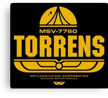 Torrens (yellow) Canvas Print