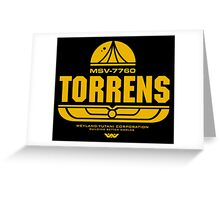 Torrens (yellow) Greeting Card
