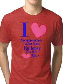 Epilepsy awareness special tees for special people Tri-blend T-Shirt