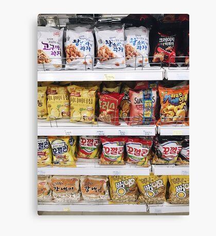 Korean Snacks Canvas Print