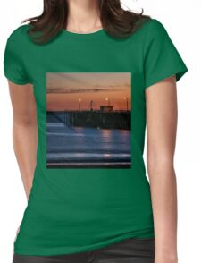 Beach Landscape Womens Fitted T-Shirt