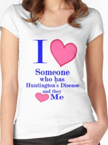 Huntington's disease awareness shirt special tees for special people Women's Fitted Scoop T-Shirt