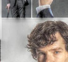 We Heart Sherlock, Moriarty, John, Mycroft and Lestrade Sticker