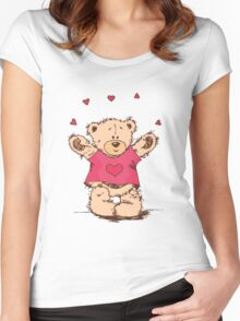 "Valentine´s Day ""Lovely Bear"" Women's Fitted Scoop T-Shirt"