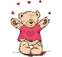 """Valentine´s Day """"Lovely Bear"""" Photographic Print"""