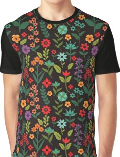 Multicolored flowers Graphic T-Shirt