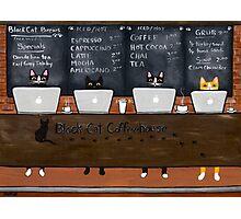Black Cat Coffeehouse Photographic Print