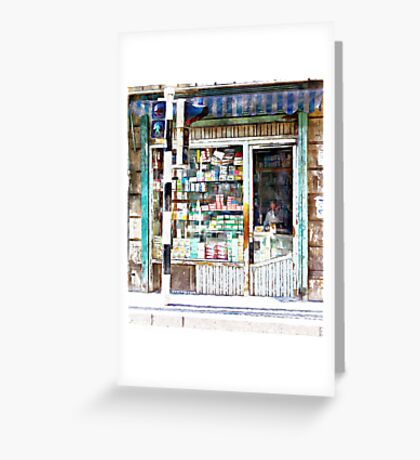 Pharmacy in Aleppo Greeting Card