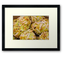 sweet biscuits Framed Print