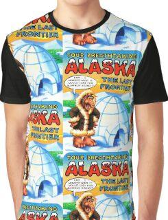 Alaska AK United States of ALF Travel Decal Graphic T-Shirt