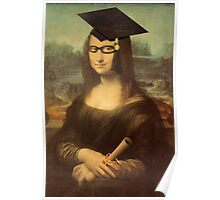 Mona Lisa Graduate with Glasses Poster