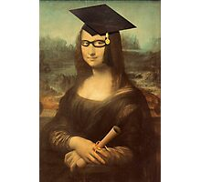 Mona Lisa Graduate with Glasses Photographic Print