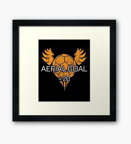 Rocket Leaugue Video Game Aerial Goal +20 Funny Gifts Framed Print
