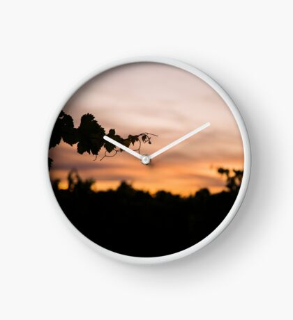 Sunset in the Valley Clock