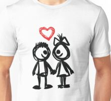 "Valentine´s Day ""Lovely Doodle"" Unisex T-Shirt"