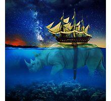 A Walk Through Deep Waters Photographic Print