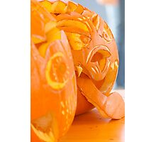 carved pumpkin for Halloween Photographic Print