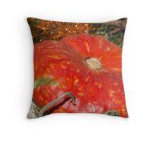 pumpkin in the garden Throw Pillow
