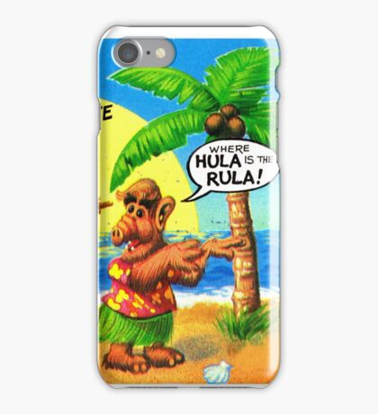 Hawaii Hula Girl United States of ALF Travel Decal iPhone Case/Skin