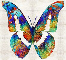 Colorful Butterfly Art by Sharon Cummings by Sharon Cummings