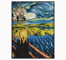 The Scream on the Starry Night Kids Clothes