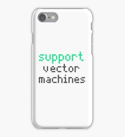Support vector machines (green) iPhone Case/Skin