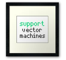 Support vector machines (green) Framed Print