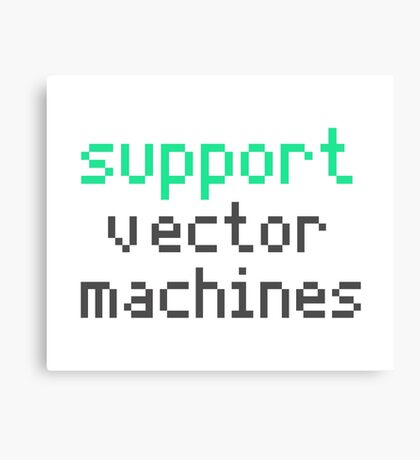Support vector machines (green) Canvas Print