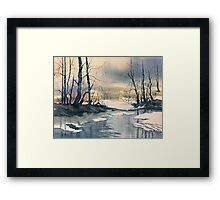 Meltwater - Skipwith Common Framed Print