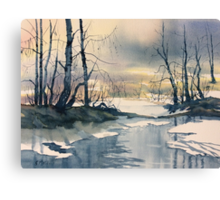 Meltwater - Skipwith Common Canvas Print