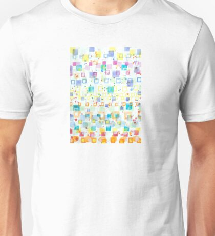 Light Squares with Drops Pattern  Unisex T-Shirt