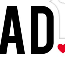 Best dad ever, word art, text design with red hearts Sticker