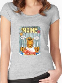 Maine Seafood Diet United States of ALF Travel Decal Women's Fitted Scoop T-Shirt