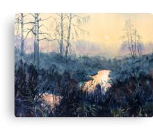 Sunset on Skipwith Common Canvas Print