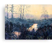 Sunset on Skipwith Common Canvas Print