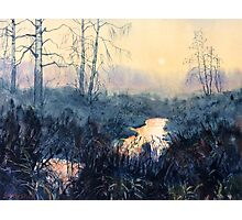 Sunset on Skipwith Common Photographic Print