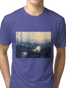 Sunset on Skipwith Common Tri-blend T-Shirt