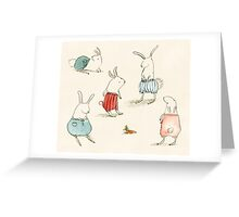 If Rabbits Wore Pants Greeting Card