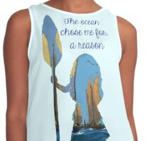 The Ocean Chose Me For A Reason - Moana Contrast Tank