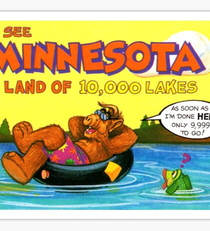 Minnesota MN 10,000 Lakes United States of ALF Travel Decal Sticker