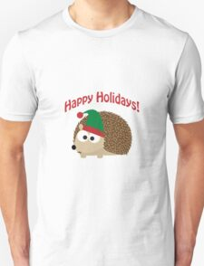 Happy Holidays! Hedgehog elf Unisex T-Shirt