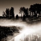 Dawn mist on the river Trent.  by Steve Crompton