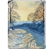 Winter Walk on Wykeham Road iPad Case/Skin
