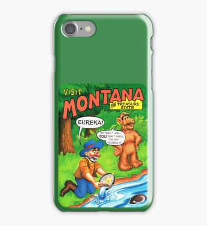 Montana Gold Rush United States of ALF Travel Decal iPhone Case/Skin