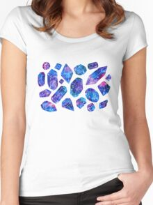 Galaxy crystals Women's Fitted Scoop T-Shirt