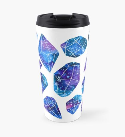 Galaxy crystals Travel Mug