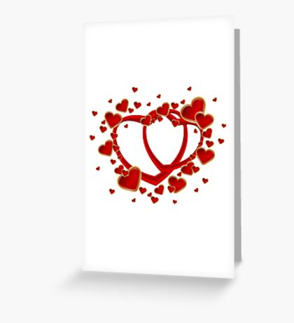 VALENTINES DAY HARTS Greeting Card