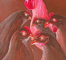 Henpecked In Red by bill holkham